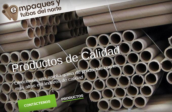 Sitio Web Empaques y Tubos