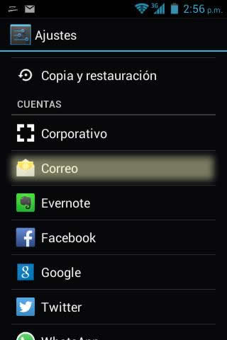 correo corporativo en android